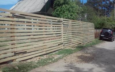 СНТ Юбилейный, деревянный забор