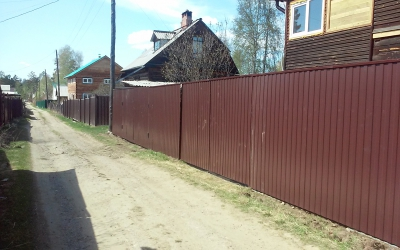 СНТ Лайнер, забор, профлист